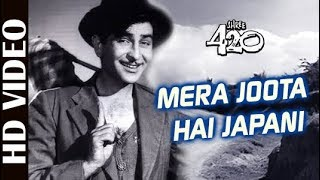 Mera Joota Hai Japani - HD VIDEO | Shree 420 | Raj Kapoor & Nargis | Mukesh | Bollywood Classic Song