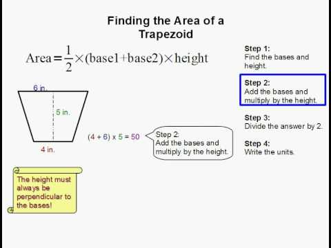 How to Find the Area of a Trapezoid.
