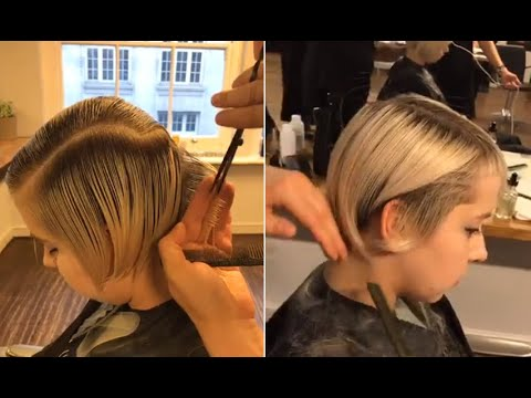 Short layered haircuts tutorial Step by Step - Short hairstyles women 2017 -  AE