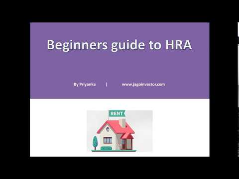 Beginners guide to HRA (House Rent Allowance)