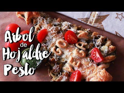 ARBOL DE NAVIDAD HOJALDRE PESTO (y queso Vegano) | Rawmance Food