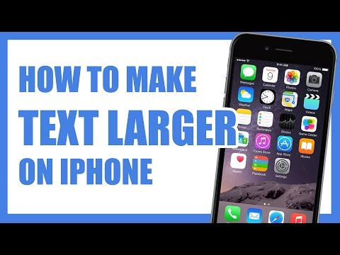 How To Make Writing / Text Larger on iPhone iOS 8 Tip