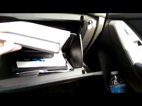 Changing cabin air filter- 2014 Mazda 3