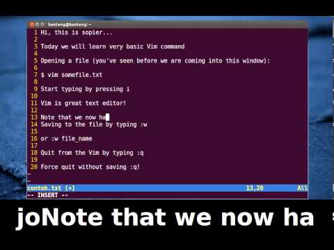 Vim Tutorial - How to Open Save Quit from a File