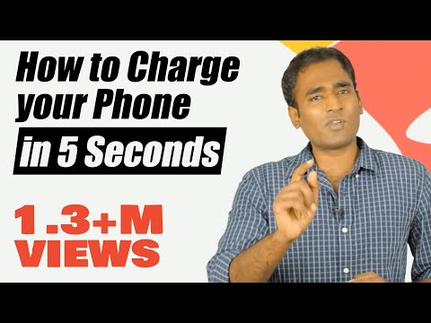 How to charge your mobile phone in 5 seconds?