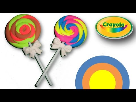 Making of Swirl Lollipops from Crayola