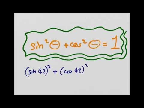 Proving the sin²θ + cos²θ = 1 trigonometric identity