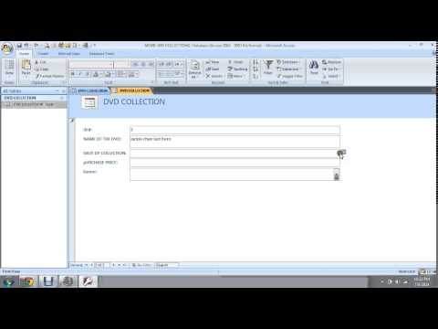 How to build movie collection database using MS ACCESS 101 Part 2