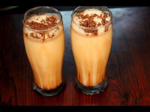homemade cold coffee recipe - iced coffee milkshake - how to make cold coffee - summer drink