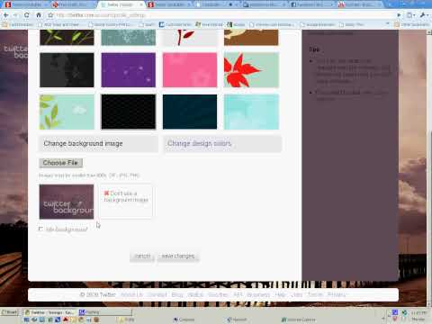 How to change your background picture and design colors on Twitter.com