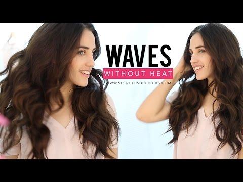 Heatless waves hairstyle