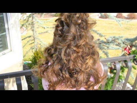 Headband Curls   No Heat Hair Curling    CuteGirlsHairstyles   Disney Style