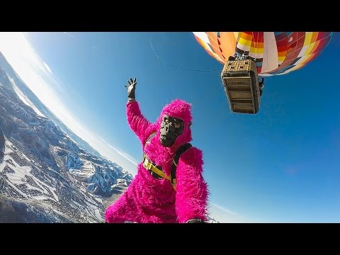 GoPro: Jesse Hall's Monkey Suit BASE Jump