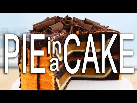 OMG 😍 I Baked a Pie INSIDE a CAKE!! What?!?