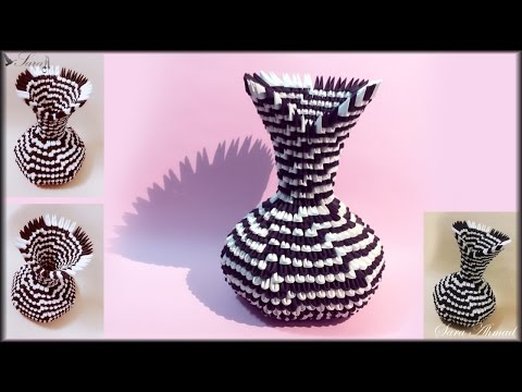 How to make 3d Origami Vase 34