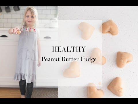 Healthy Peanut Butter Fudge for Valentine's Day