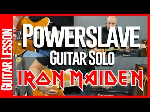 Powerslave By Iron Maiden - Guitar Lesson Tutorial Part 2 The Solo's