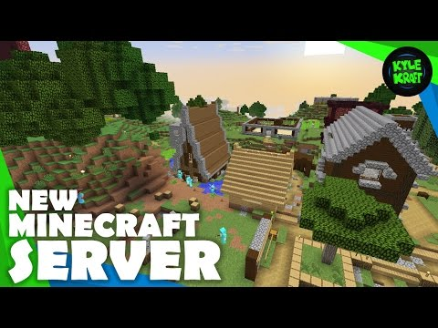 Building my HOUSE on the NEW KyleKraft Survival Minecraft Server!