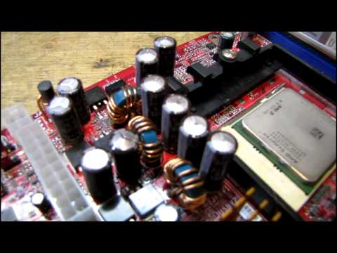Some info and examples of bad and defective capacitors on computer motherboards
