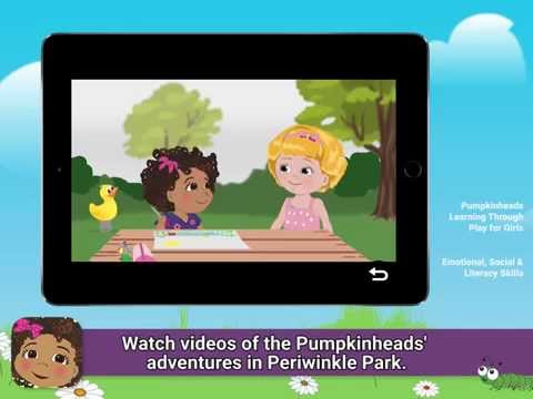 Preview the Pumpkinheads App! Learning Through Play for Girls