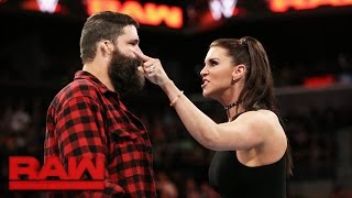 Stephanie McMahon fires Mick Foley: Raw, March 20, 2017