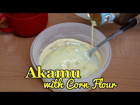 How to make Akamu/Ogi with Corn Flour (Corn Starch)
