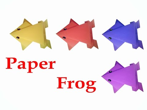 How to make Origami Frog ( very easy ) : DIY Crafts