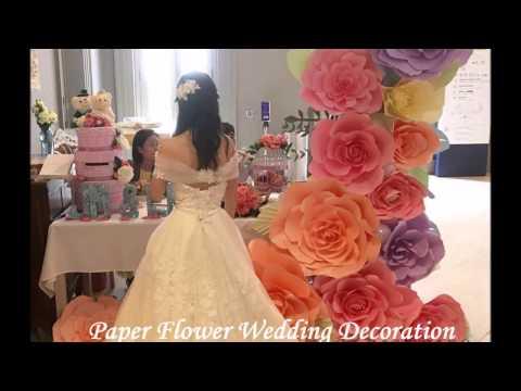 Tissue Paper Flowers DIY Wedding Flower Wall Centerpiece How To