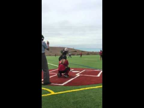 Hitting a 63 mph rise ball deep to move the runners