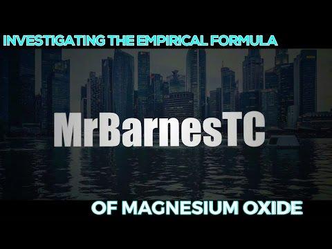 GCSE Chemistry 1-9: Investigating The Empirical Formula of Magnesium Oxide