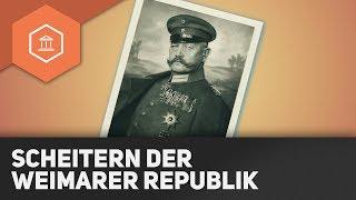 Das Scheitern Der Weimarer Republik - Ursachen & Grundzüge