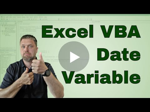 What is the Excel VBA (Macro) Date Variable Type?