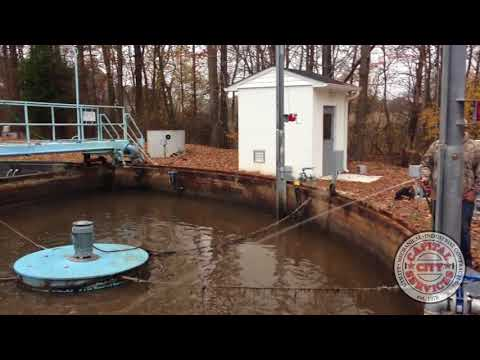 Cleaning a spill at a water treatment plant