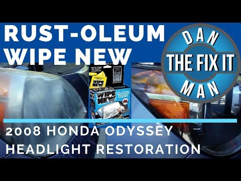 DOES IT WORK?  RUST-OLEUM WIPE NEW - DIY HEADLIGHT RESTORE PRODUCT REVIEW