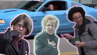 GIRL SCARES PEOPLE WITH LOUD EXHAUST (REACTIONS)