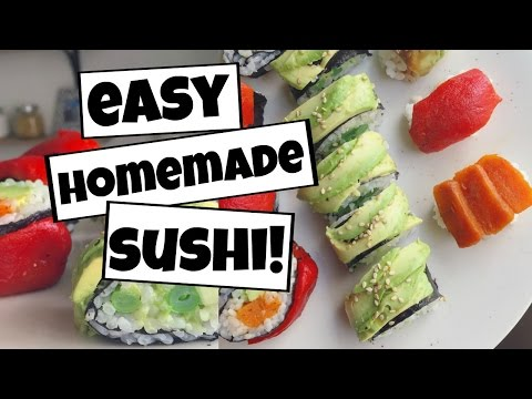 How to make VEGAN Sushi at Home! Unique, easy to make, and HEALTHY