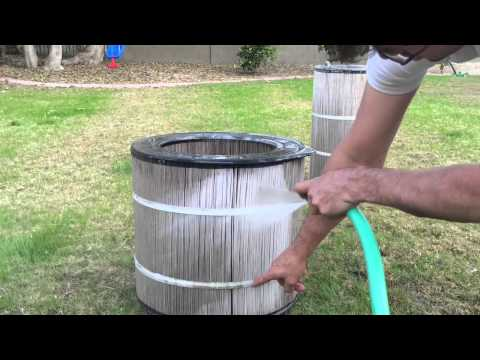 How to clean a cartridge filter out takes