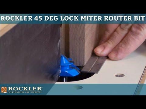 Rockler 45-degree Lock Miter Router Bit