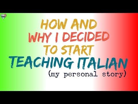 Learn to Speak Italian: How and Why I Decided to Start Teaching Italian