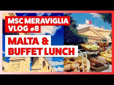 MSC Meraviglia | Vlog Part 8 | Malta & lunch on the ship