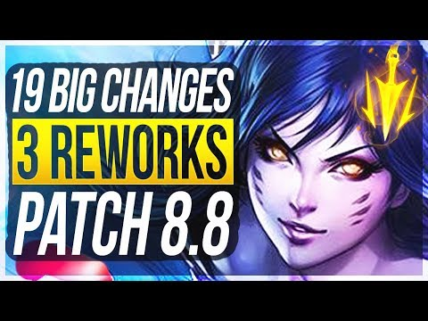 3 REWORKS & LETHAL BUFFS?! 19 BIG CHANGES & NEW OP CHAMPS Patch 8.8 - League of Legends