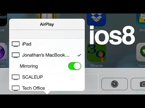 Como hacer que funcione Airplay en iOS 8- iphone ipad ipod apple tv mirroring (duplicar)