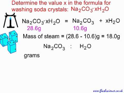 Reacting Mass Calculation: Water of Crystallisation.