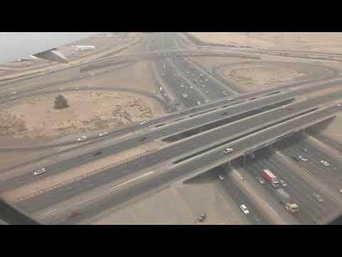 Emirates Flight EK433 landing at Dubai International Airport