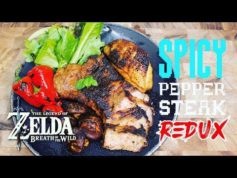 How to Make Spicy Pepper Steak from Zelda Breath of the Wild [Redux]