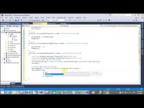 Edit update Gridview Row in ASP.NET C# Part-2