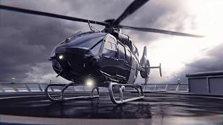 Helicopter ec135 start - blender animation