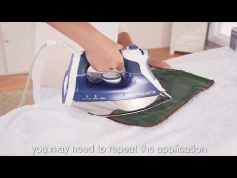 How to clean the iron soleplate of a Rowenta iron