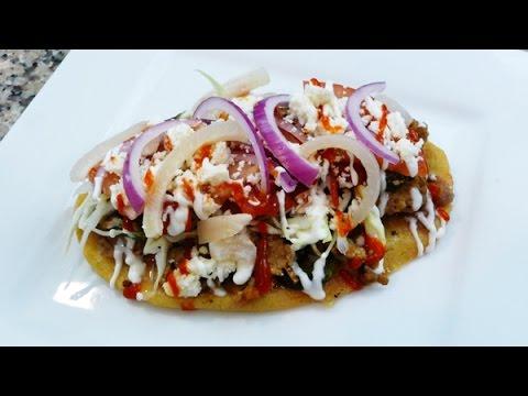 Huaraches Cocina Mexican, receta facil.