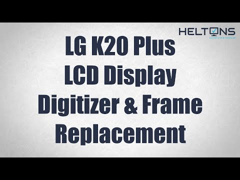LG K20 Plus - LCD Display Touch Screen Digitizer Replacement & Frame - TP260 MP260